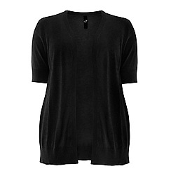 Evans - Black short sleeved cardigan
