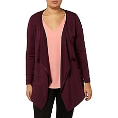 Evans - Red zip waterfall cardigan