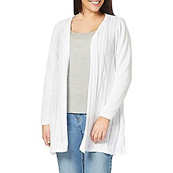 Evans - White fan back cardigan