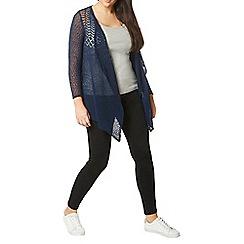 Evans - Navy blue fine knit cardigan