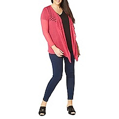 Evans - Pink fine knitted cardigan