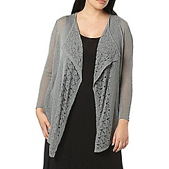 Evans - Grey fine knit cardigan