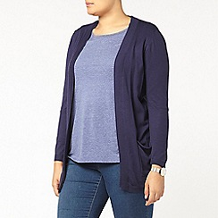 Evans - Navy pocket cardigan