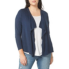 Evans - Navy waterfall cardigan
