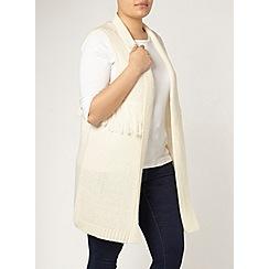 Evans - Ivory fringed waistcoat