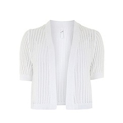 Evans - White short sleeve shrug