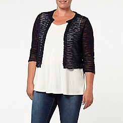 Evans - Navy lace back shrug