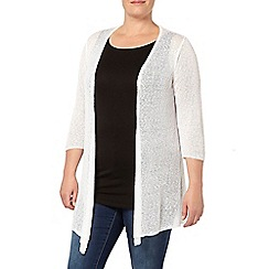Evans - White diamond back cardigan
