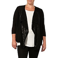 Evans - Black pointelle cardigan