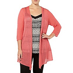 Evans - Cranberry diamond back cardigan