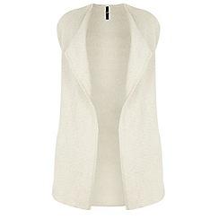 Evans - Ivory rib waterfall waistcoat