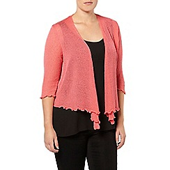Evans - Cranberry diamond back shrug