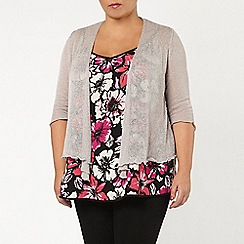 Evans - Grey diamond back shrug