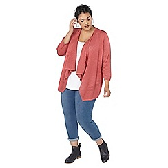 Evans - Pink waterfall front cardigan