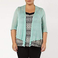 Evans - Mint diamond back shrug