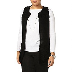 Evans - Black knitted loop waistcoat