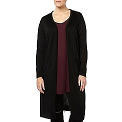 Evans - Plain black long cardigan