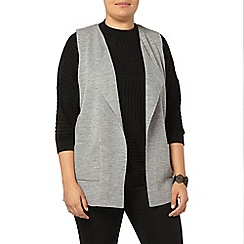 Evans - Grey knitted waistcoat