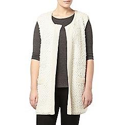 Evans - Ivory loop textured waistcoat