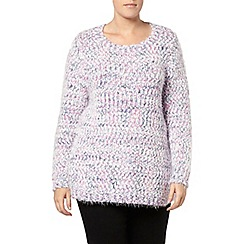 Evans - Lilac multicoulred fluffy jumper