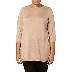 Evans - Neutral knitted spot detail jumper