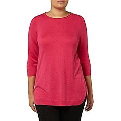 Evans - Pink spot detail jumper