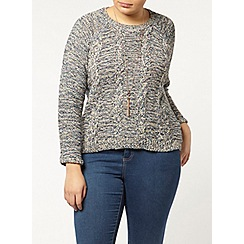 Evans - Multicoloured cable knit jumper