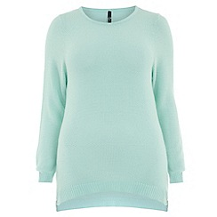 Evans - Mint zip detail jumper