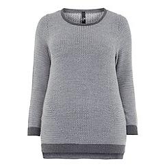 Evans - Grey zip detail jumper