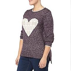 Evans - Purple heart fairisle jumper