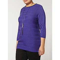 Evans - Purple striped jumper
