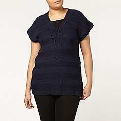 Evans - Navy knitted jumper