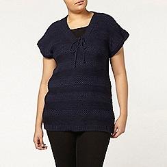 Evans - Navy knitted jumper