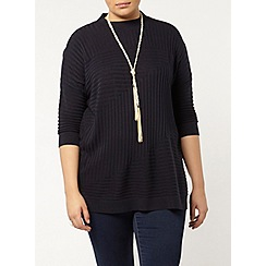 Evans - Navy high neck jumper