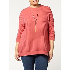 Evans - Pink high neck jumper