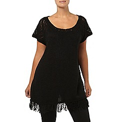 Evans - Black tassel jumper