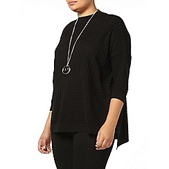 Evans - Black knitted high neck jumper