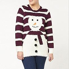 Evans - Purple snowman jumper