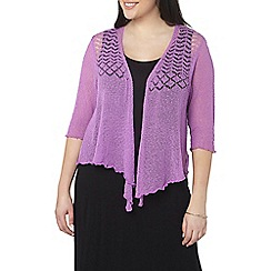 Evans - Purple fine knit shrug