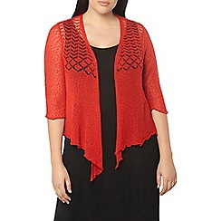 Evans - Red fine knit shrug