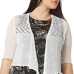 Evans - White fine knit shrug
