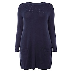 Evans - Navy blue knitted tunic