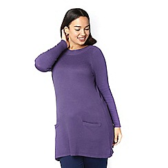 Evans - Purple texture tunic