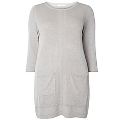 Evans - Grey pocket knitted tunic top