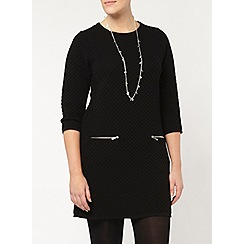 Evans - Black zip pocket tunic