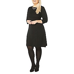 Evans - Black fit and flare dress