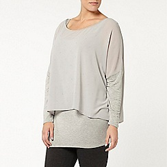 Evans - Live unlimited for evans grey stud tunic