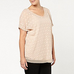 Evans - Live unlimited for evans cream textured top