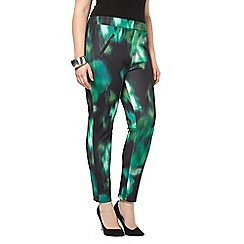 Evans - Live unlimited green floral trousers