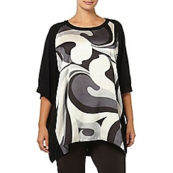 Evans - Live unlimited for evans black & white swirl print top
